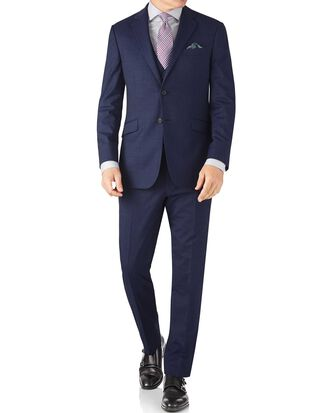 Slim Fit Businessanzug aus Fil-à-Fil in Indigoblau