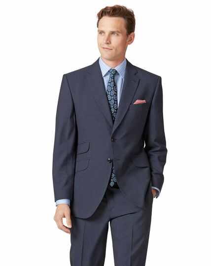 Blue Panama classic fit British suit jacket