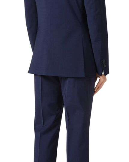 Royal blue slim fit performance suit jacket