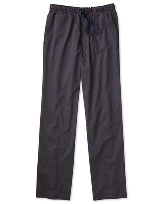 Navy and red spot lightweight pyjama trousers