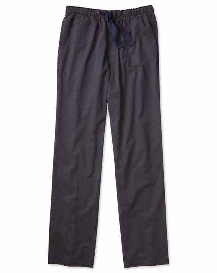 Navy and red stripe lightweight pyjama trousers