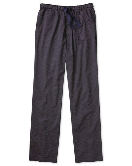 Navy and red spot lightweight pajama pants