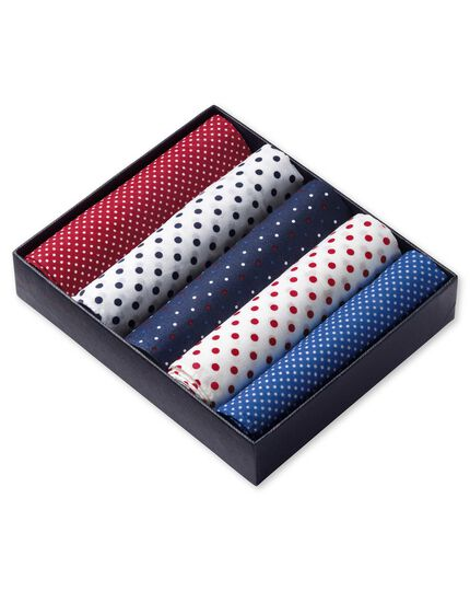 Red white and blue handkerchief box set