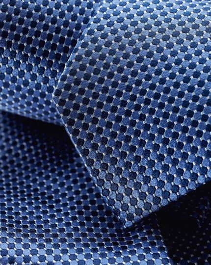 Stain Resistant Silk Classic Tie - Navy
