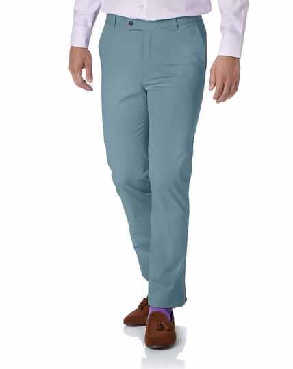 Sky blue slim fit stretch chinos