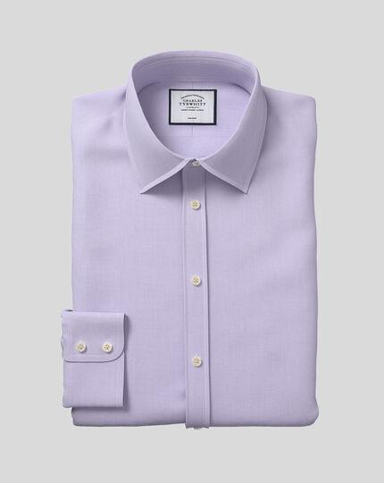 Classic Collar Non-Iron Micro Diamond Shirt - Lilac