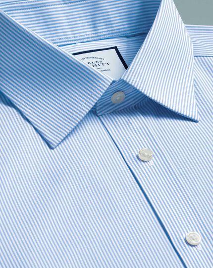 Chemise bleu ciel à rayures Bengale slim fit sans repassage
