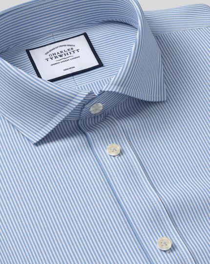 Chemise bleue super slim fit à rayures Bengale sans repassage