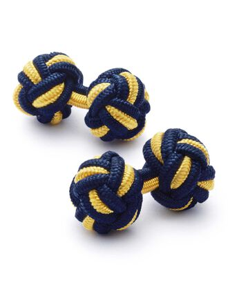 Navy and gold knot cufflinks