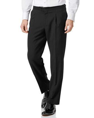 Black classic fit tuxedo trousers