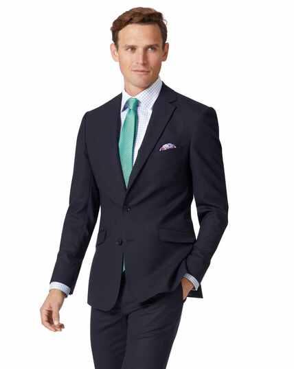 Veste de costume business bleu marine en laine mérinos extra slim fit