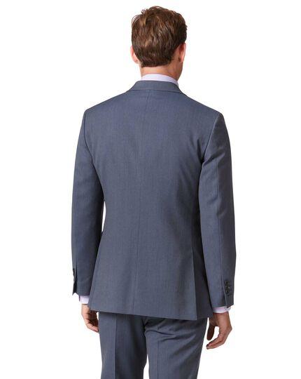 Light blue slim fit herringbone business suit jacket