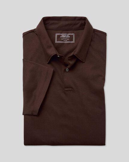 Smart Jersey-Polo - Schokoladenbraun