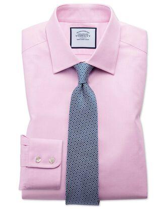 Classic fit Egyptian cotton trellis weave pink shirt