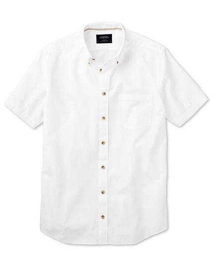 Slim fit short sleeve white shirt