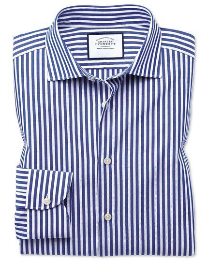 Business-Casual Extra Slim Fit Hemd mit Dreherstruktur und Streifen in Blau & Weiß