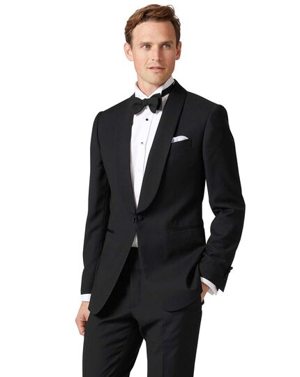 Black extra slim fit dinner suit jacket