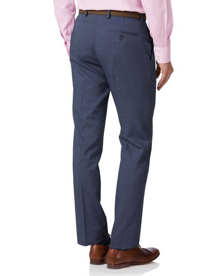 Pantalon de costume bleu clair slim fit à tissage échelle