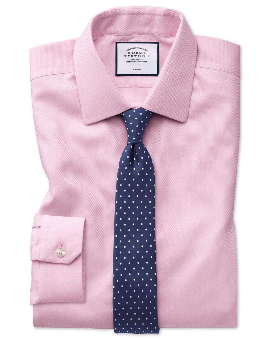 Non-Iron Arrow Weave Shirt - Pink