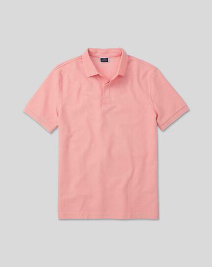 Tyrwhitt Cool Waffle Polo - Pink