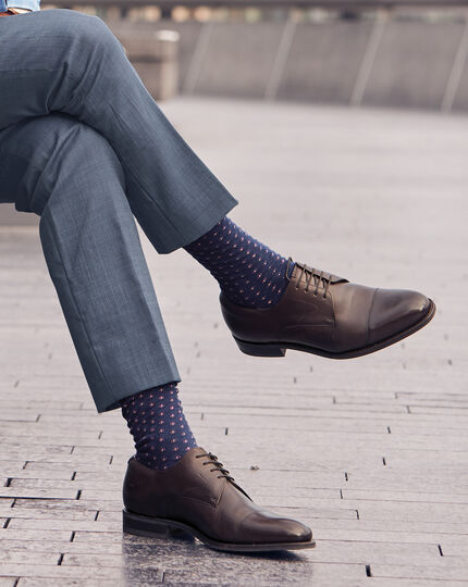 Geo Socks - Navy & Pink