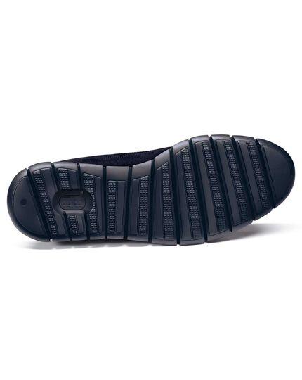 Extra leichte Budapester Derby-Schuhe aus Wildleder in Marineblau