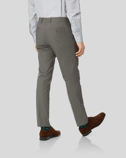 Non-Iron Stretch Pants - Dark Brown