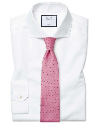 Super slim fit white non-iron twill shirt