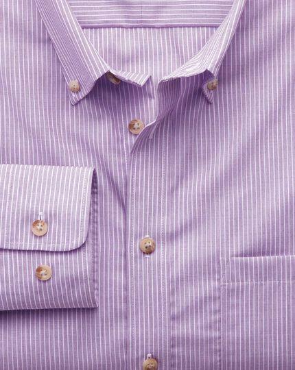 Extra slim fit non-iron poplin lilac stripe shirt
