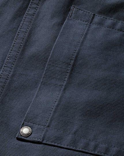 Slim Fit Bedford Cordhose mit Fünf-Taschen-Design in Airforceblau
