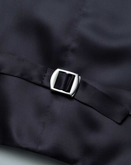 Gilet de costume de luxe bleu marine coupe ajustable en twill italien