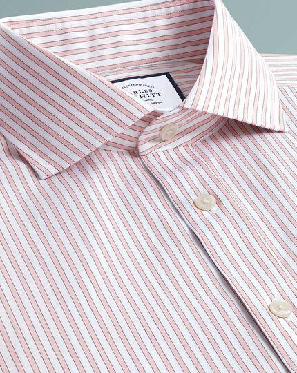 Extra slim fit non-iron shadow stripe pink shirt