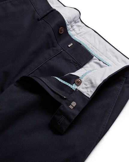 Navy non-iron ultimate chinos
