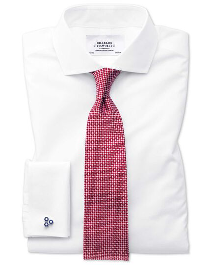 Red silk diamond lattice classic tie
