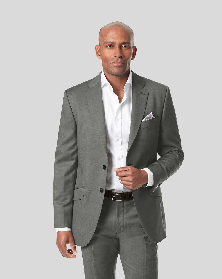 Italian Pindot Suit Jacket - Grey