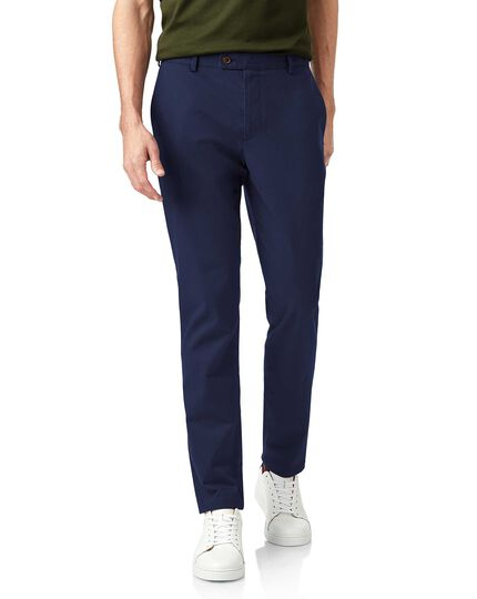 Dark blue non-iron ultimate chinos