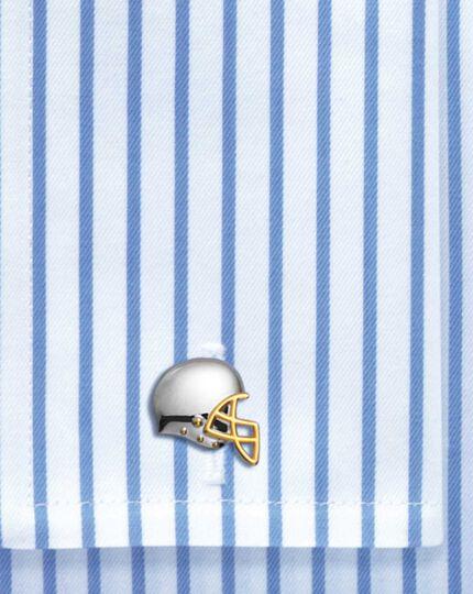 American football helmet cufflinks