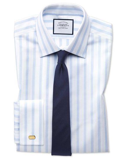 Extra slim fit Egyptian cotton royal Oxford sky blue stripe shirt