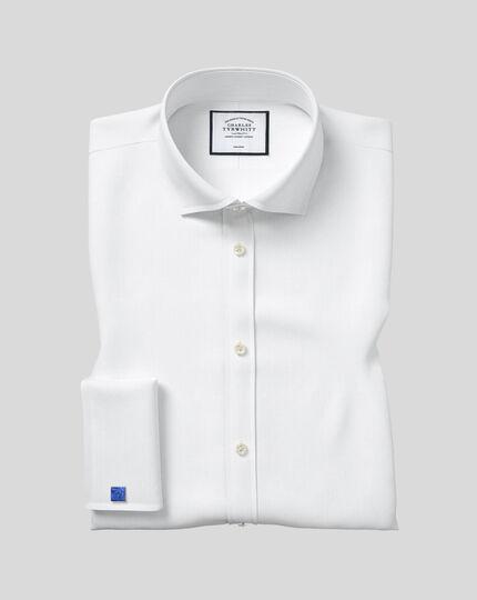 Cutaway Collar Non-Iron Twill Shirt - White