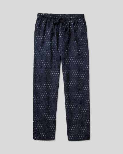 Printed Dot Pyjama Bottoms - Navy