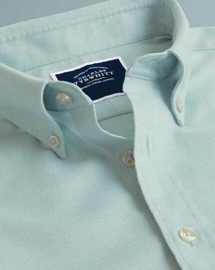 Plain Soft Washed Non-Iron Twill Shirt - Light Green