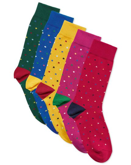 Multi triangle sock gift box