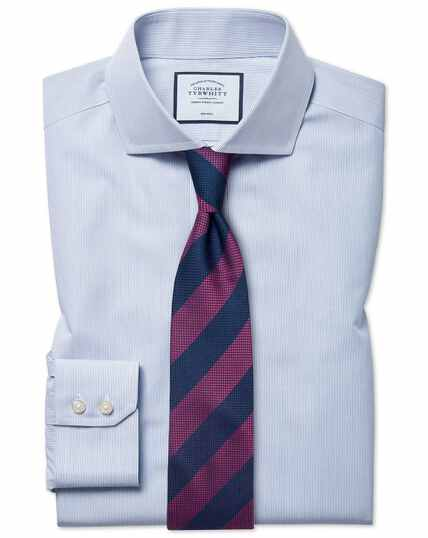 Classic fit non-iron blue stripe Tyrwhitt Cool shirt