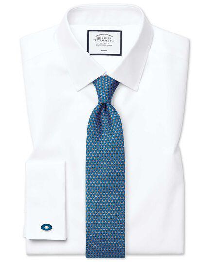 Super slim fit non-iron twill white shirt