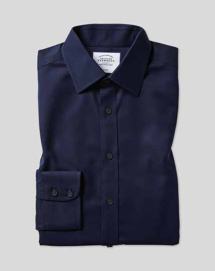 Classic Collar Non-Iron Twill Shirt  - Navy