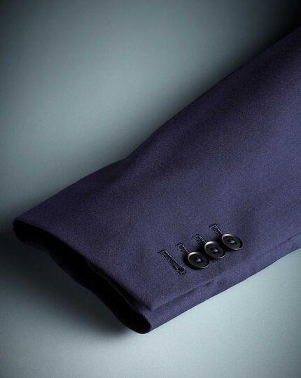 Veste de costume business bleu roi en laine mérinos slim fit
