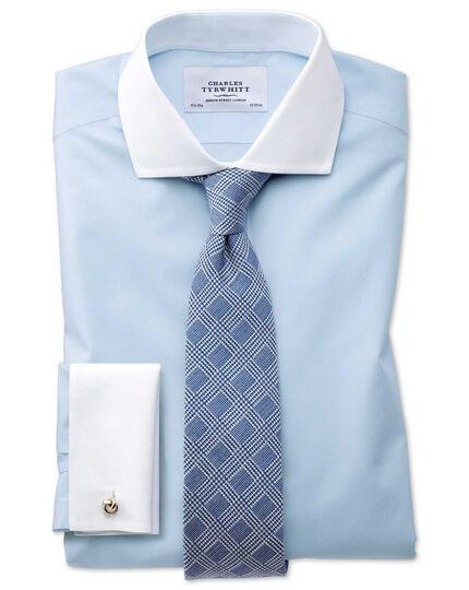 Slim fit cutaway non-iron Winchester sky blue shirt