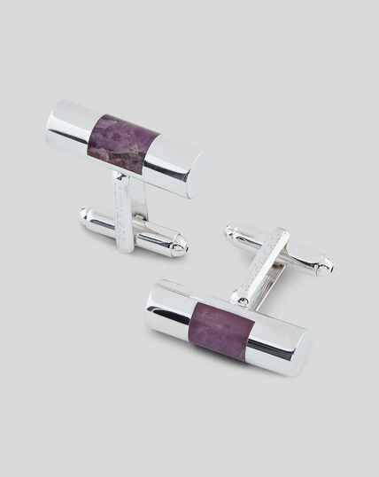 Stone Bar Luxury Cufflink - Purple