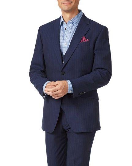 Navy slim fit Panama stripe business suit jacket