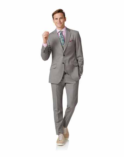 Italienischer Anzug Slim Fit in Silber